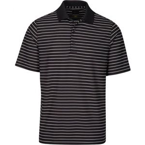 GEORGE GOLF XL BLACK WHITE STRIPE POLO